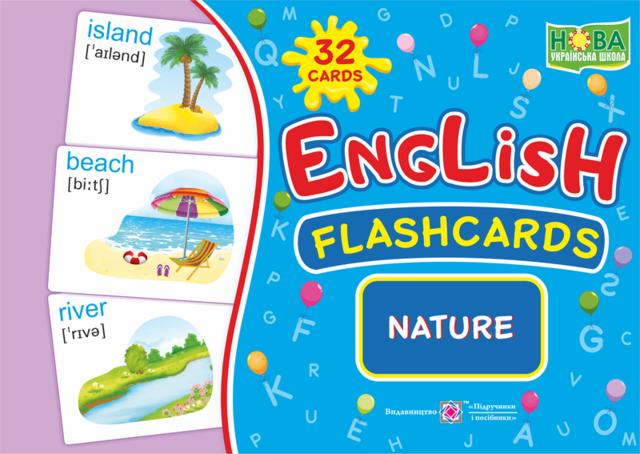 English : flashcards. Nature. Природа. Набір карток англійською мовою