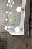 Большое настенное  зеркало с подсветкой, бьютизеркало  1000х800 мм  Вуди  5000, фото 4