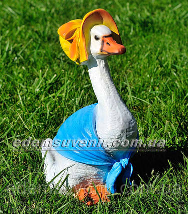 Садовая фигура Утка в шляпе, фото 2