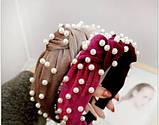 Ободок для волос бархатный с бусинами, фото 6