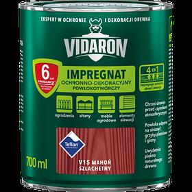 Тонирующий защитный лак для древесины V15 Vidaron БЛАГОРОДНОЕ КРАСНОЕ ДЕРЕВО 0,7