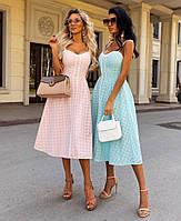 Женское яркое платье из прошвы на подкладке
