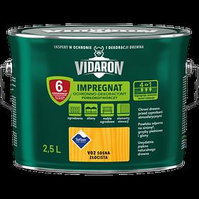 Импрегнат защитно-декоративный лак Vidaron V02 СОСНА ЗОЛОТАЯ 2.5л
