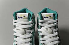 """Кроссовки Nike Air Jordan x Dior 1 Retro High Patent """"Зеленые/Белые"""", фото 3"""