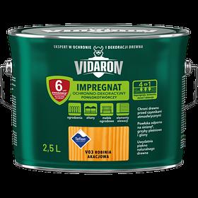 Импрегнат лак декоративно-защитный тонирующий V03 Vidaron БЕЛАЯ АКАЦИЯ 2.5 л