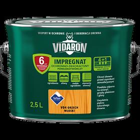 Импрегнат лак тонирующий защитный для древесины V04 Vidaron ОРЕХ ГРЕЦКИЙ 2.5л