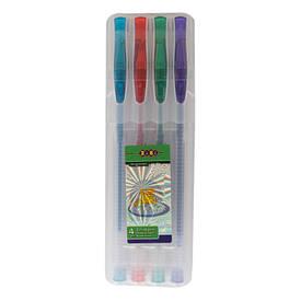 Набір ручок ZiBi 4шт гель GLITTER асорті ZB.2200-99