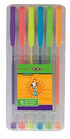 Набір ручок ZiBi 6шт гель NEON асорті ZB.2201-99