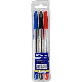 Набір кулькових ручок Buromax тип Корвіна 3шт 3ол. пластиковий футляр BM.8433