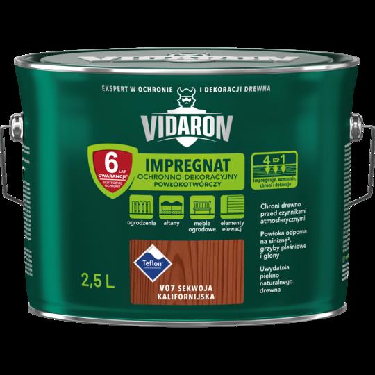 Импрегнат декоративная защита древесины V07 Vidaron СЕКВОЙЯ калифорний 2.5л