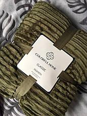 Бамбукове покривало плед смужка шарпей на овчині 200х220, фото 3