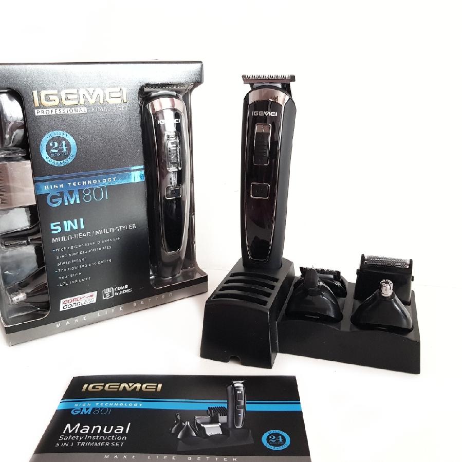 Машинка для стрижки волос Gemei Gm 801 5в1