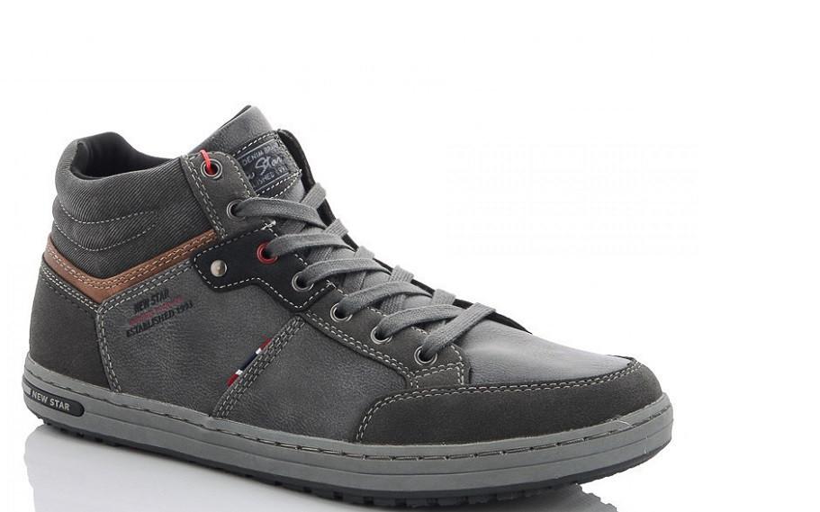 Ботинки мужские серые HOROSO-X961-4