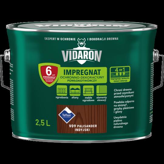 Импрегнат декоративная защита древесины V09 Vidaron ПАЛИСАНДР индийской 2.5л