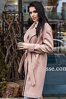 Роскошное двубортное пальто из полушерсти Анталия, фото 1