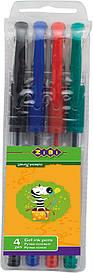 Набір ручок ZiBi 4шт гель асорті ZB.2202-99
