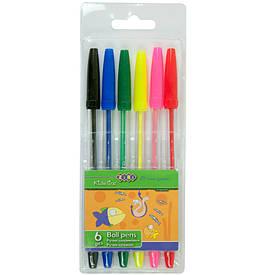 Набір ручок ZiBi 6шт кулька асорті ZB.2011