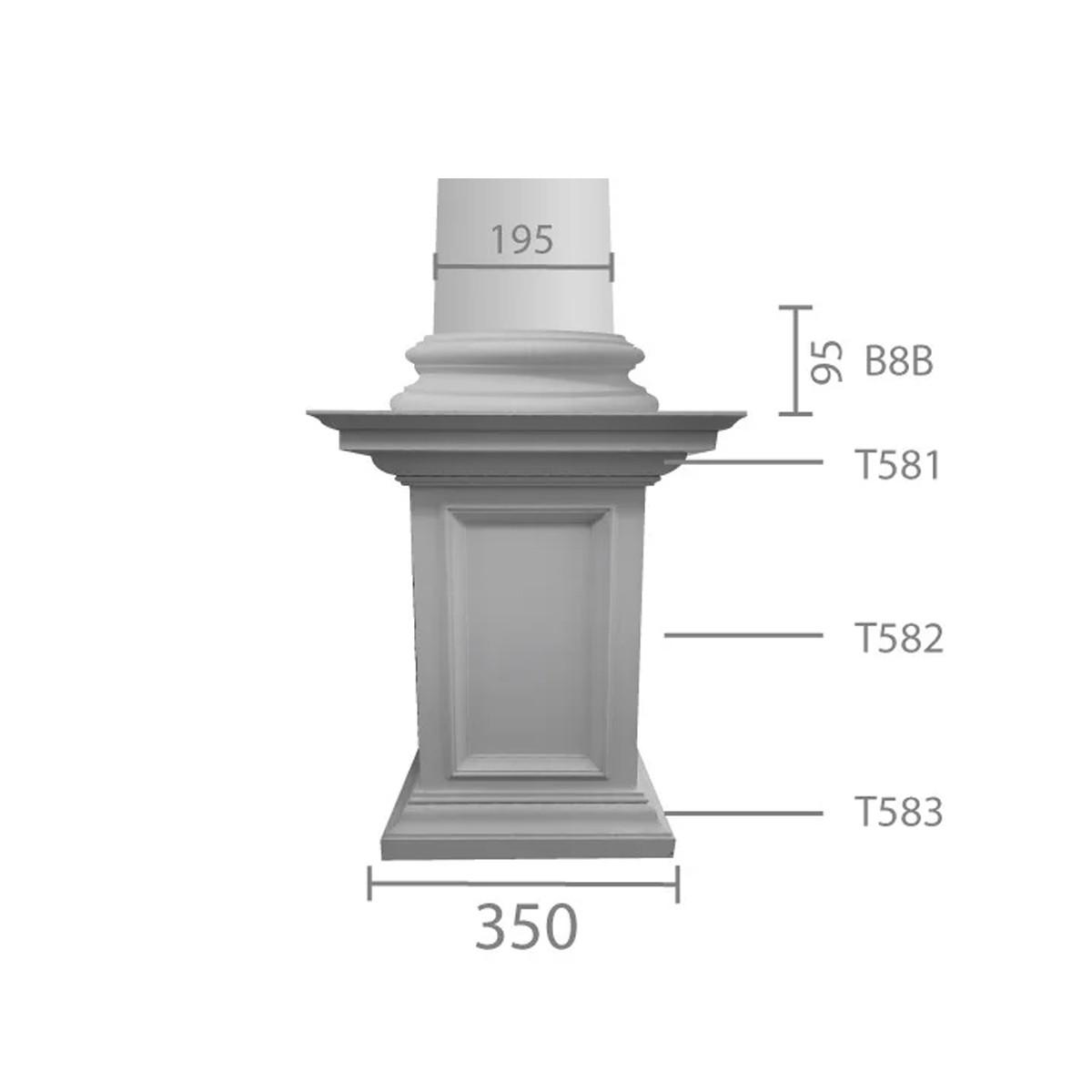 База колонны б-8а (Вал В 8в)