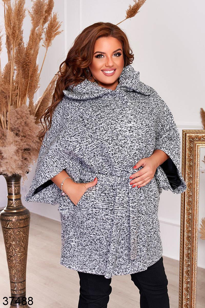 Удлиненное женское пальто с поясом р. 48-50, 52-54, 56-58, 60-62, 64-66