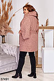 Удлиненное женское пальто с поясом р. 48-50, 52-54, 56-58, 60-62, 64-66, фото 5