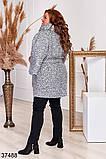 Удлиненное женское пальто с поясом р. 48-50, 52-54, 56-58, 60-62, 64-66, фото 6