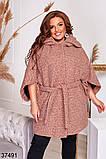 Удлиненное женское пальто с поясом р. 48-50, 52-54, 56-58, 60-62, 64-66, фото 7