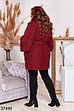 Удлиненное женское пальто с поясом р. 48-50, 52-54, 56-58, 60-62, 64-66, фото 10