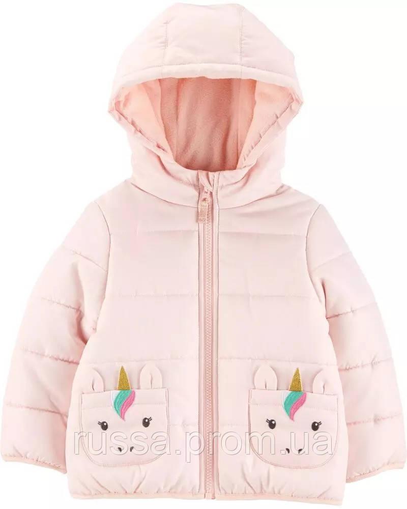 Детская зимняя курточка на утеплителе Единороги Картерс для девочки