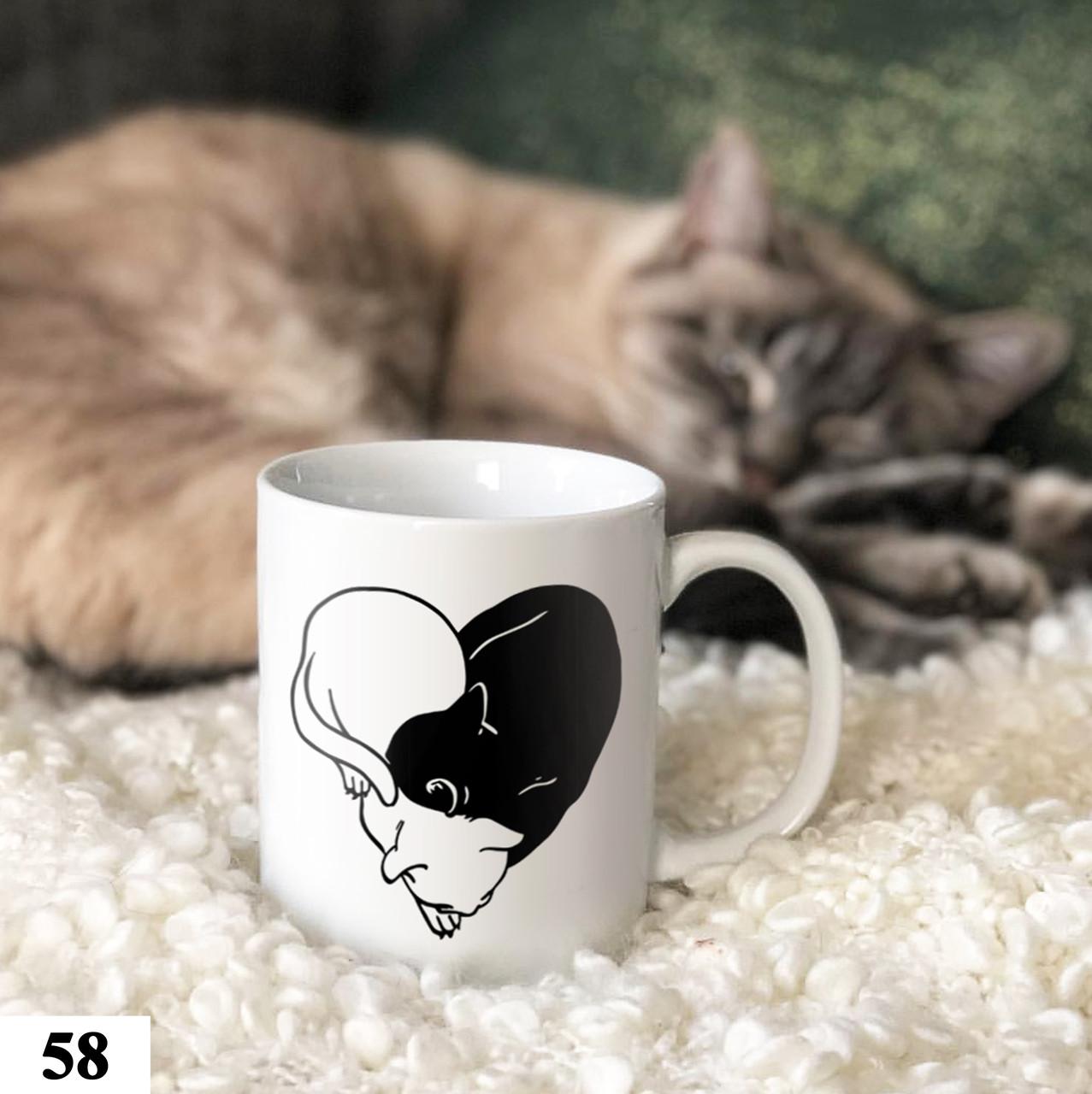 Чашка с принтом Инь-Янь