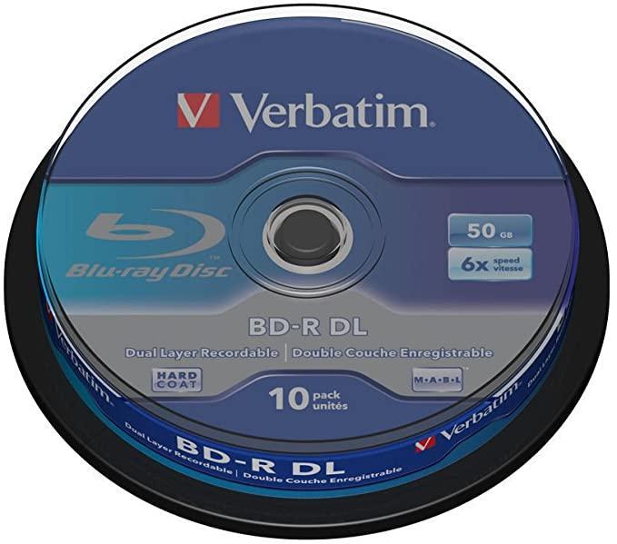 Verbatim BD-R DL 50 GB 6x Cake 10 шт (43746)