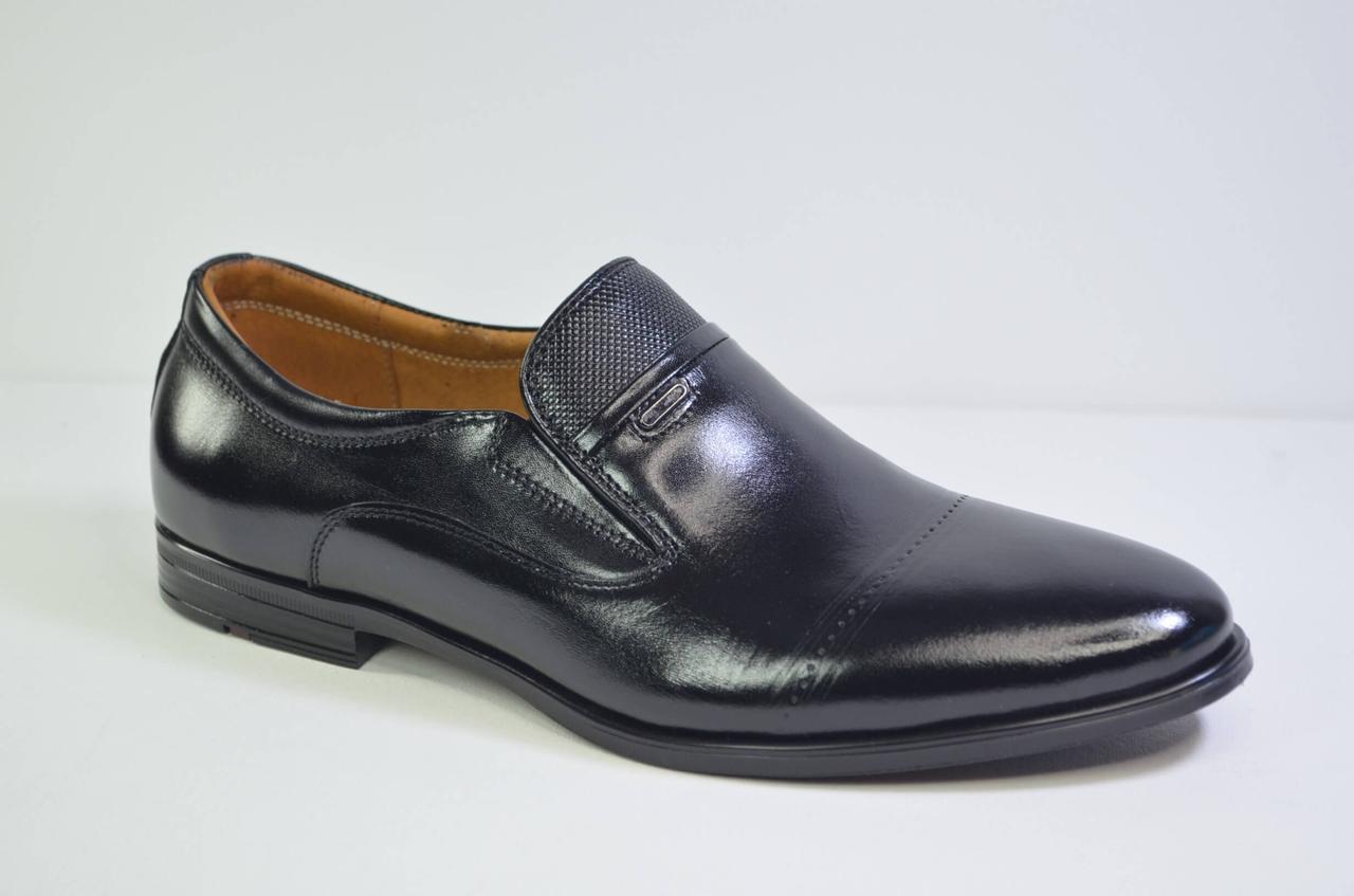 Мужские кожаные туфли черные Nord 455