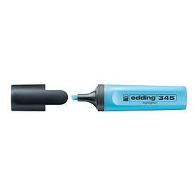 Маркер текстовыделитель Highlighter Edding 2-5 мм скошений блакитний e-345/10