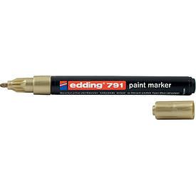 Лаковий Маркер Edding 1-2 мм золотий e-791/12