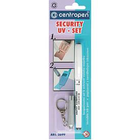 Маркер для скрытой маркировки Security UV Centropen для скрытой маркеровки с фонариком 2699/1/B