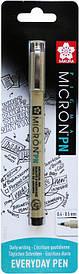 Ручка PIGMA MICRON Чорний PN (лінія 0.4-0.5 мм), в блістері, Sakura