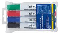 Набор из 4-х маркеров для сухостираемых досок Jobmax