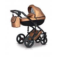 Коляска детская универсальная 2 в 1 Verdi Mirage Eco Premium Gold II, черная