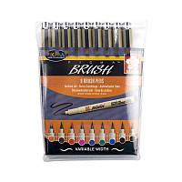 Набор линеров-кисточек PIGMA Brush 9цв. Sakura