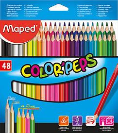 Олівці кольорові 48 кольорів Maped COLOR PEPS Classic MP.832048