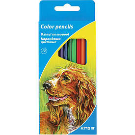 Цветные карандаши набор Kite Звери 12цв (K15-051)