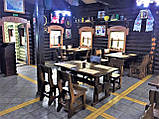 Деревянный стол 1500х800 мм под старину ручной работы для кафе, дачи от производителя. Wood Table 07, фото 4
