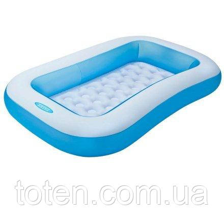 Надувной бассейн детский Intex 57403, 166 х 100 х 28 см, ПВХ, надувное дно