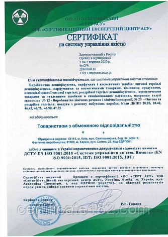 Сертификация на соответствие ДСТУ ISO 22000:2019, ДСТУ EN ISO 9001:2018 (ДСТУ идентичны международным), фото 2