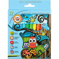 Фломастеры Koh-i-noor 12 цветов Совята картон упак. 1012СВ/12