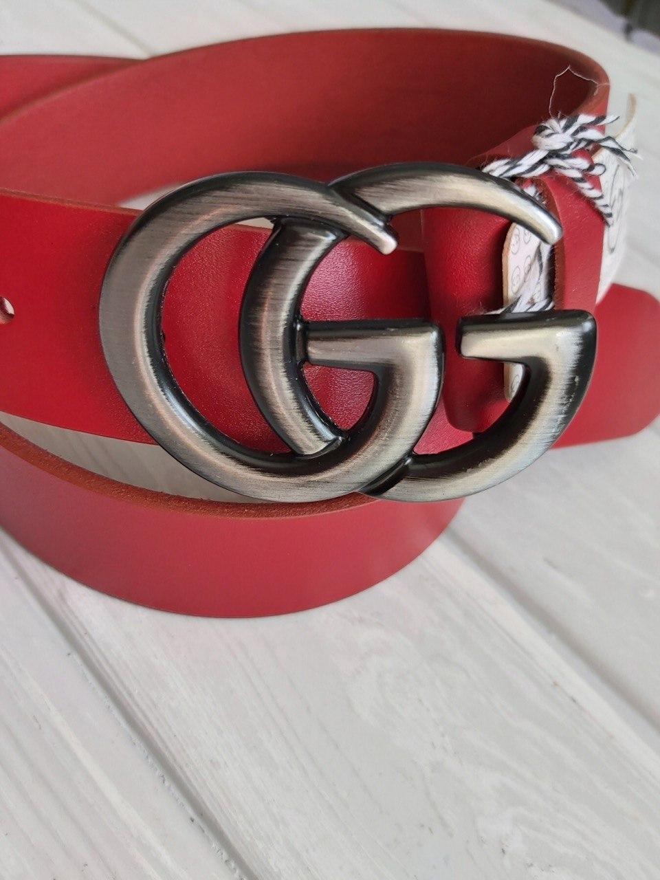 Пояс красный бренд