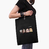 Эко сумка шоппер черная Блек Пинк (BlackPink) (9227-1340-2) экосумка шопер 41*35 см, фото 1