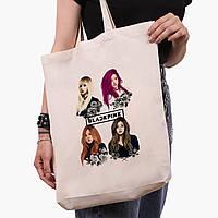 Эко сумка шоппер черная Блек Пинк (BlackPink) (9227-1341-2)  экосумка шопер 41*35 см, фото 1