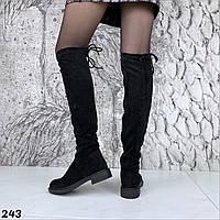 Женские демисезонные ботфорты низкий ход, фото 1