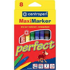 Фломастери Centropen 8 кольорів Perfect Maxi 8610/08