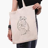 Эко сумка шоппер Anime Sailor Moon 41*35 см